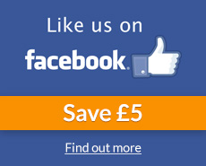 Like Us On Facebook Save £5